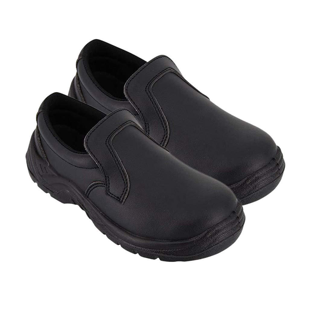 ღLILICATღ Unisex Zapatos de Trabajo para Restaurante Calzado de Seguridad para Cocineros Antideslizante Zapato Chef: Amazon.es: Jardín