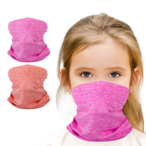 Kids Face Cover Neck Gaiter for Cycling Hiking Fishing Sport Outdoor,6-14 Years Kids Handwear, Washable and Reusable