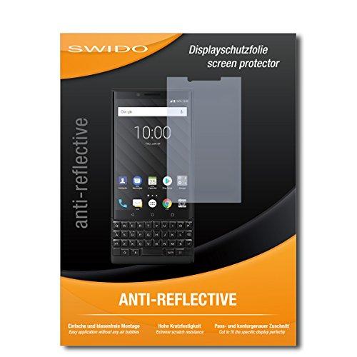 SWIDO Bildschirmschutzfolie für BlackBerry Key2 [3 Stück] Anti-Reflex MATT Entspiegelnd, Extrem Kratzfest, Schutz vor Kratzer/Bildschirmschutz, Schutzfolie, Panzerfolie