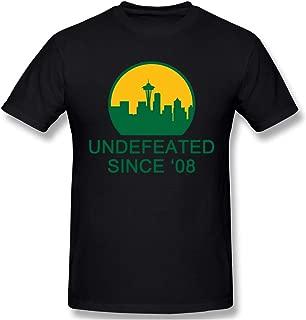 Seattle Supersonics Men's Classic Short Sleeve Crewneck T-Shirt