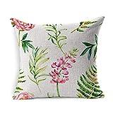 Generic Dekokissen Abdeckung Square Clover rosa Farbe Aquarell Garten Blumen Wild Weed Natur Wasser...