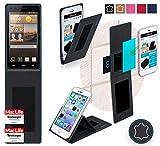 Hülle für Huawei Ascend G6 4G Tasche Cover Hülle Bumper | Schwarz Leder | Testsieger