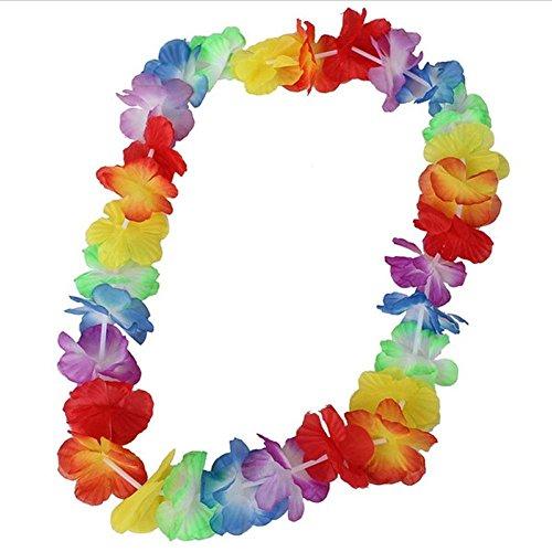 Barley33 10x Hawaiano Lei Leis Collar de Flores Guirnalda para Accesorios de Fiesta temática de Playa Tropical