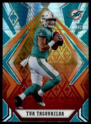 2020 Fanatics Exclusive Phoenix Football Fire Burst Prizm #102 Tua Tagovailoa RC Rookie Miami Dolphins Official NFL Trading Card