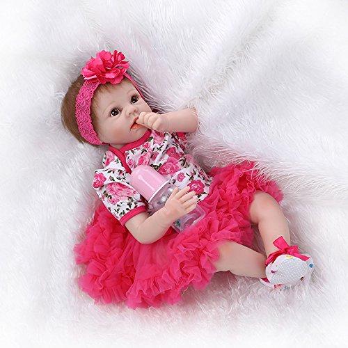 NPKDOLL Reborn Baby Reborn Bambola molle del bambino di simulazione del silicone vinile 22 pollici 55 centimetri magnetica Bocca realistica sveglia del giocattolo dei bambini 108A1IT