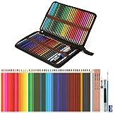 Aquarellstifte, AGPtEK Professionelles Aquarellstift Set mit 48 Buntstiften und Zubehöre, Mehrfarbige Kunst Bleistifte mit Federhalter, Perfekt zum Mischen und Color Layering -'MEHRWEG'