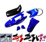 Plastic Fender Body Seat Gas Tank Kit for Yamaha PW50 PY50 PW 50 (Pink)