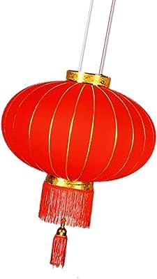 10 x cylindrique chinois Suspendus Lanternes De Papier Traditionnels featival Parti ornent