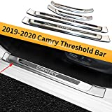 Barra de umbral del Parachoques de la Puerta del automóvil, Tiras de Ajuste del Pedal de Bienvenida, Accesorios de diseño Exterior del automóvil para Camry 2019-2020
