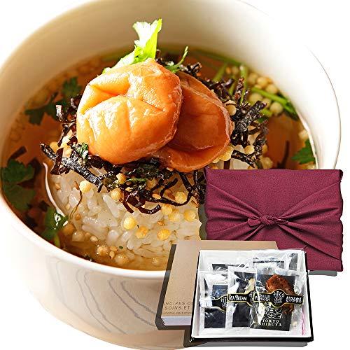 お茶漬け 高級 ギフト 6食入り メッセージカード付 (金目鯛・炭火鶏・うなぎ・磯海苔・しじみ・梅・他)