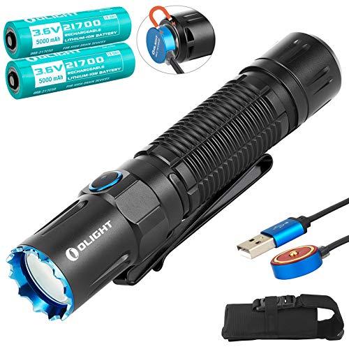 OLIGHT M2R Pro Warrior EDC Taktische Taschenlampe Neutral Weiße LED 1800 Lumen USB Magnetische Wiederaufladbare Doppelschalter Tragbare Taschenlampen, mit 2 * 21700 Akku & Batteriefach