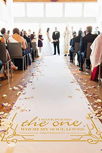 Läufer für Hochzeitsdekoration, Gangläufer für Hochzeiten, Outdoor-Zubehör, 30,5 x 0,9 m, goldfarben