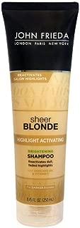 John Frieda sheer blonde Highlight Activating Enhancing Shampoo For Lighter Blondes 8.45 oz (Pack of 3)