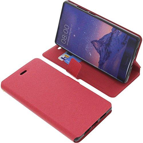 foto-kontor Tasche für Doogee Mix Book Style rot Schutz Hülle Buch