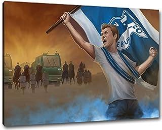 Ultras Magdeburg Format: 120x80, Bild auf Leinwand XL, ferti