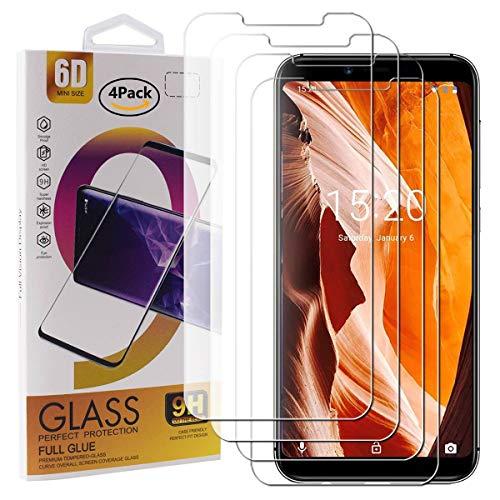 Guran 4 Pezzi Pellicola Protettiva in Vetro Temperato per UMIDIGI A3 / UMIDIGI A3 PRO Smartphone 9H Durezza Anti-Impronte HD Alta Trasparenza Pellicola