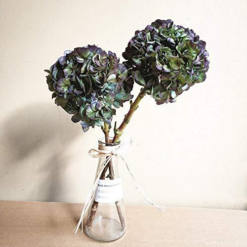 CHZIMADE Natürliche getrocknete Blume Hortensien Heimdekoration getrocknete Blume Ball Outdoor Hochzeit Party Dekoration Hängekorb 4