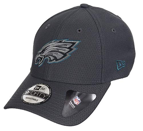 New Era Philadelphia Eagles 9forty Adjustable Cap NFL Hex Era Graphite - One-Size