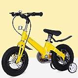 RUIXFEC Niño Bicicleta, Bicicleta para Niños Unisex Freestyle, Bicicleta Infantil con Ruedas de Entrenamiento y Estabilizadores, 18 Pulgadas, Asiento Ajustable, Bicicletas para Niños de Diseño Moda