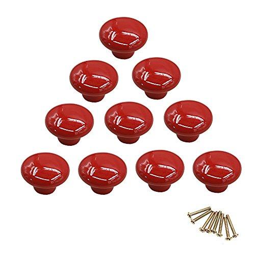 10 pomelli rotondi colorati in ceramica per armadietti, maniglie a foro singolo per cassetti, credenze, cassettoni e ante