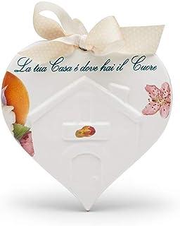 Piastrella in ceramica Cuore di Casa, decoro Fresco (La tua Casa è dove hai il Cuore)