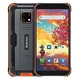 Blackview BV4900 Outdoor Smartphone ohne Vertrag Android 10,0 Dual-SIM-Karte 4G Handy 5.5 Zoll HD Bildschirm, 5580mAh Akku, 3GB RAM +32GB ROM 128GB Erweiterbar 8MP Hintere Dreifachkamera NFC,Face ID,GPS