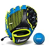 Franklin Sports Kids Baseball Glove - NeoGrip Boys + Girls Youth Tball Glove - Toddler + Youth Teeball, Baseball + Softball Mitt - Right Hand Throw - 9.5'