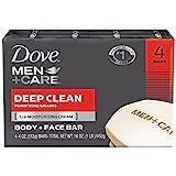 Dove Men+Care Body and Face Bar, Deep Clean 4 oz, 4 Bar by Dove