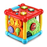 VTech Busy Learners Activity Cube (Frustration Free Packaging) Red, 6.22 x 6.22 x 6.46 Inches