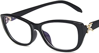 Unisex Glasses Frame Fashion Bright Black Rectangle Full Frame Decoration Prescription Glasses