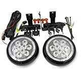 Cooper F55 LED Rally DRL Driving Light for 2014 2015 2016 Mini Cooper F55 F56 F57 Led Daytime Running Light Black Shell Fog Lamps with Halo Ring