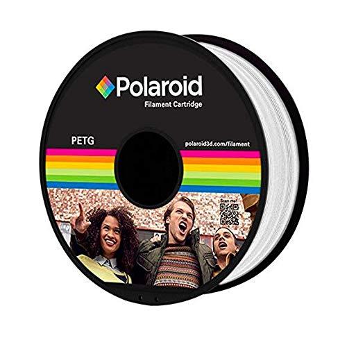 Polaroid Universal Premium PLA Filament 1 kg I Für 3D Drucker und 3D Stifte I 1,75 mm Durchmesser (Weiß)