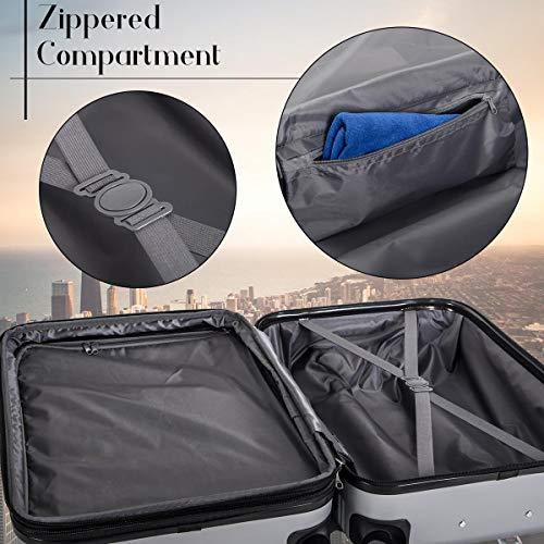 Merax Travelhouse Luggage Set 3 Piece Expandable...