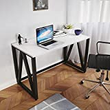 LARGE SIZE - 120cms (Wide) x 60 cms (Deep) x 75 cms (High) offers you a large and efficient space to work ROBUST DESIGN - Table top is Premium Particle Board (High Grade prelaminated engineering wood with natural wood grain finish) which is mounted o...