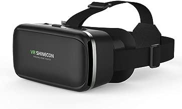 HONGIGI Shinecon 6.0 Casque VR Occhiali per Realtà virtuale Occhiali 3D 3 D Cuffie Casco per Smartphone Smartphone Google Cardboard Len & (Colore: Nero)