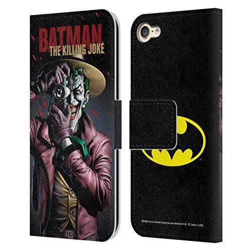 Head Case Designs Oficial Batman DC Comics La Broma de Matar Fundas de cómics Famosas Carcasa de Cuero Tipo Libro Compatible con Apple Touch 6th Gen/Touch 7th Gen