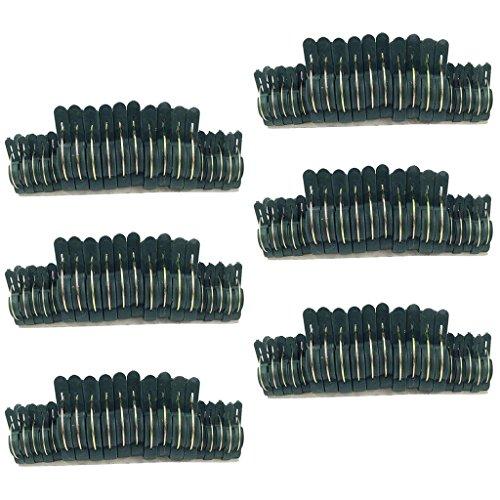Baoblaze Lot de Clips à Ressort Pinces Attache Menuiserie Liens d'agrafe Verrouillage à Ressort - Vert 120pcs