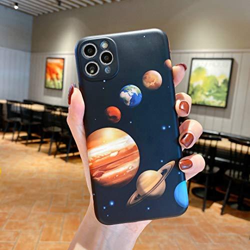 für iPhone 8 / iPhone 7 Hülle, Stoßfeste Ganzkörper IMD Soft TPU Schutzhülle mit Designmuster für 4.7 Zoll iPhone SE 2nd 2020 für Mädchen Frauen (Planet)