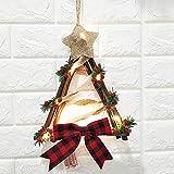 CAJHFIZHANGU 1 guirnalda de muñeco de nieve con luces LED para decoración de muñeco de nieve, corona de Navidad, corona de Navidad, decoración para fiestas, día festivo, Navidad