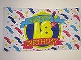 AZ FLAG Flagge Alles Gute ZUM Geburtstag 18 Jahre 150x90cm - Happy 18TH Birthday Fahne 90 x 150 cm - flaggen Top Qualität