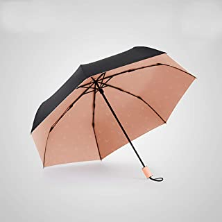 Ultra-Light Portable Folding Umbrella Sun Protection UV Umbrellas Windproof and Rainproof, Durable HYBKY (Color : Orange)