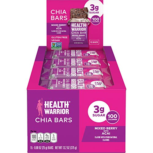HEALTH WARRIOR Chia Bars, Acai Berry, 15-Count Now $5.55 (Was $25) **Only 37¢ Each**