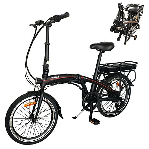 E-Bike Klapprad 20' Elektrofahrrad Mit 36V 10Ah Abnehmbarer Lithium-Akku 250W Heckmotor Kilometerstand Aufladen Bis zu 50km-55km Klappräder Mountainbike