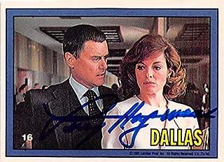 Larry Hagman autographed trading card JR Ewing Dallas TV Show 1981 Donruss #16