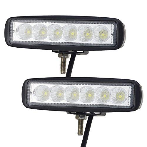 AUXTINGS 2 x LED-Arbeitsleuchte, 15,2cm, 18W, Nebelscheinwerfer, Flutlicht und Strahler, für Geländewagen, LKW, SUV, Allradantrieb