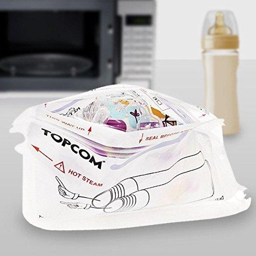 TopCom Mikrowellen-Sterilisationsbeutel für Babyflaschen