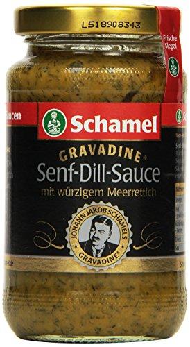 Schamel Senf-Dill- Sauce Gravadine, 6er Pack (6 x 140 ml)