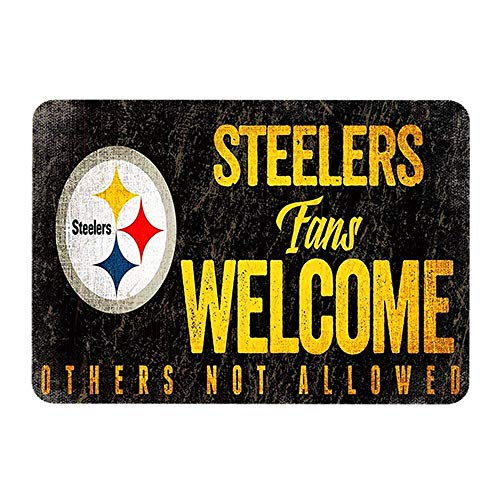 Garage Decorations for Men for Pittsburgh Steelers Fans Welcome OthersTin Signs 12 X 8 Inch Iron Painting