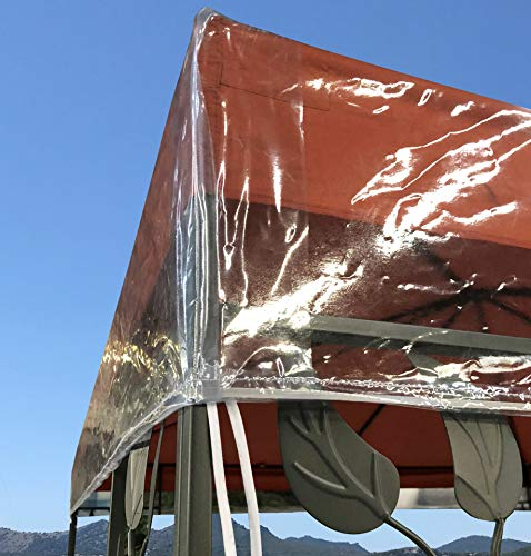 QUICK STAR Gazebo Cover Protettiva 3 x 4 m Impermeabile Protezione dagli Agenti atmosferici Trasparente