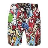 ASINL Super Mario World All Stars Men's Swimming Trunks with...